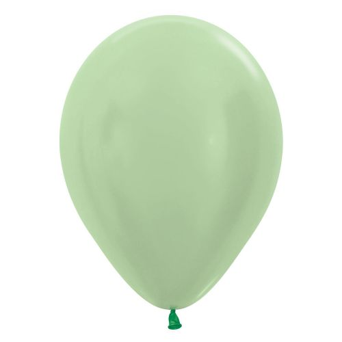 "Satin Solid Green 430 Latex Balloons 12""/30cm"